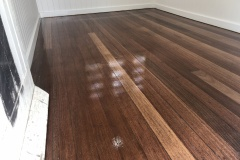 After floor sanding off paint in Brisbane Non Toxic Floors Australia