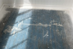 Before floor sanding off paint in Brisbane Non Toxic Floors Australia