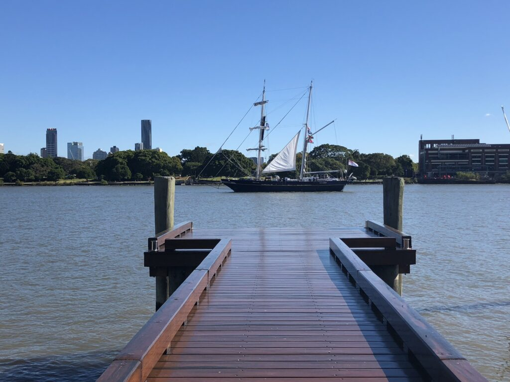 After Finishing coating timber deck and oiling in Brisbane coating in decking oil Non-Toxic Floors Australia